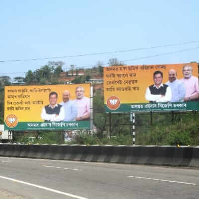 Multiple Outdoor campaigns for BJP